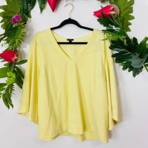 Ann Taylor bell sleeve career blouse size XL